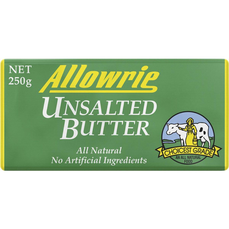 Allowrie Unsalted Pat Butter, 250 Gram