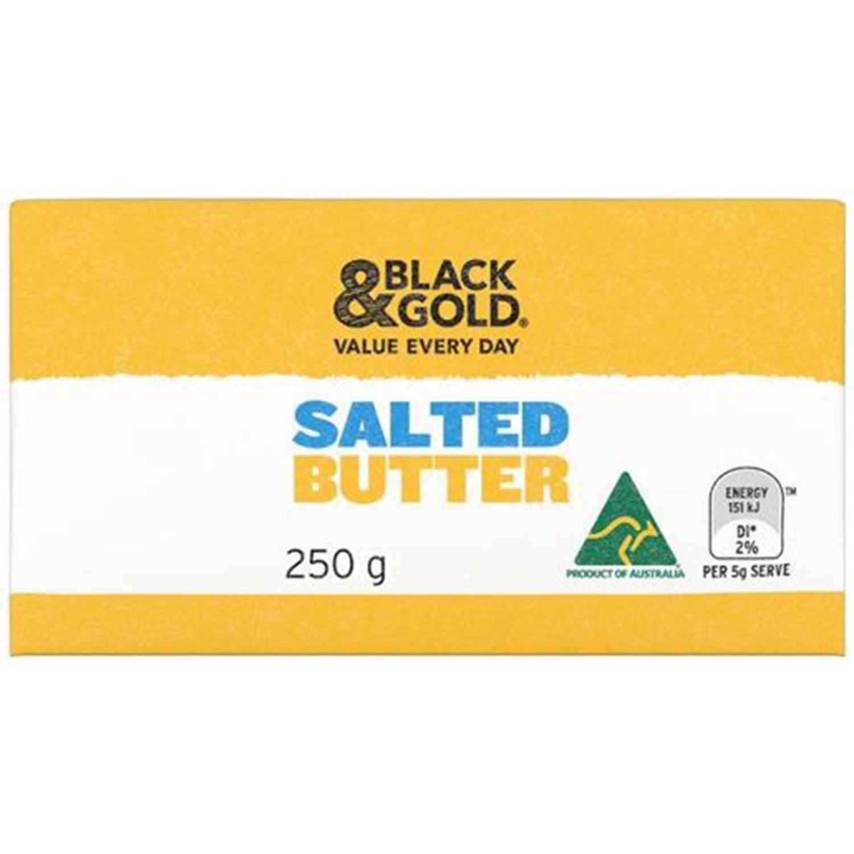 Black & Gold Salted Butter, 250 Gram