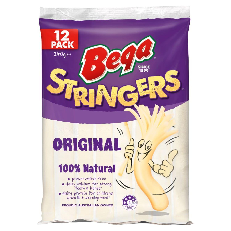 Bega Stringers Peelable Cheese, 12 Each