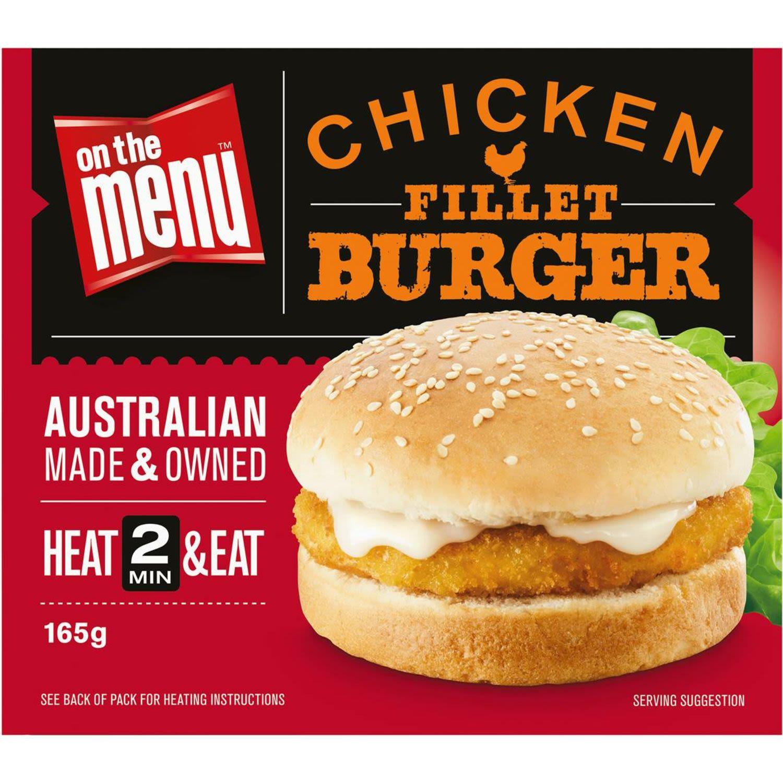 On The Menu Ready Go Eat Burgers Fried Chicken, 165 Gram