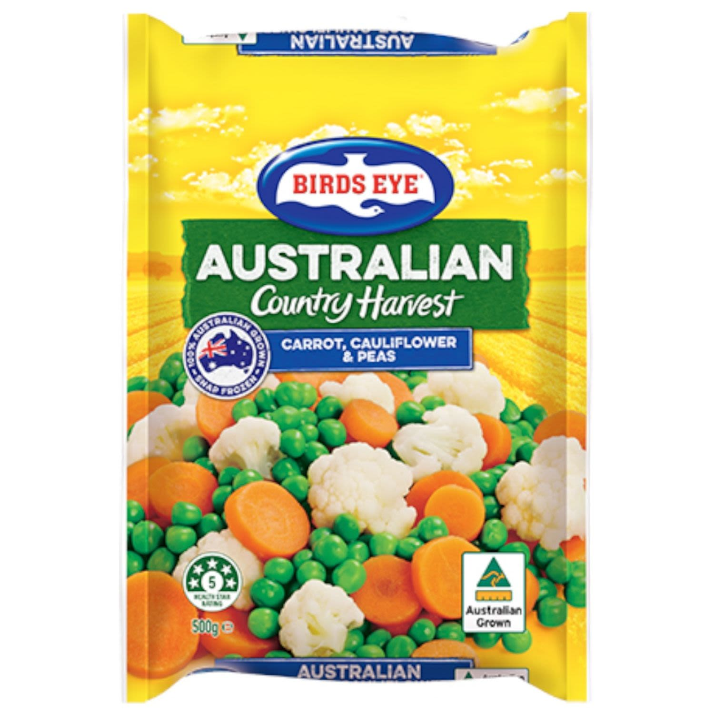 Birds Eye Country Harvest Peas Carrots & Cauliflower, 500 Gram