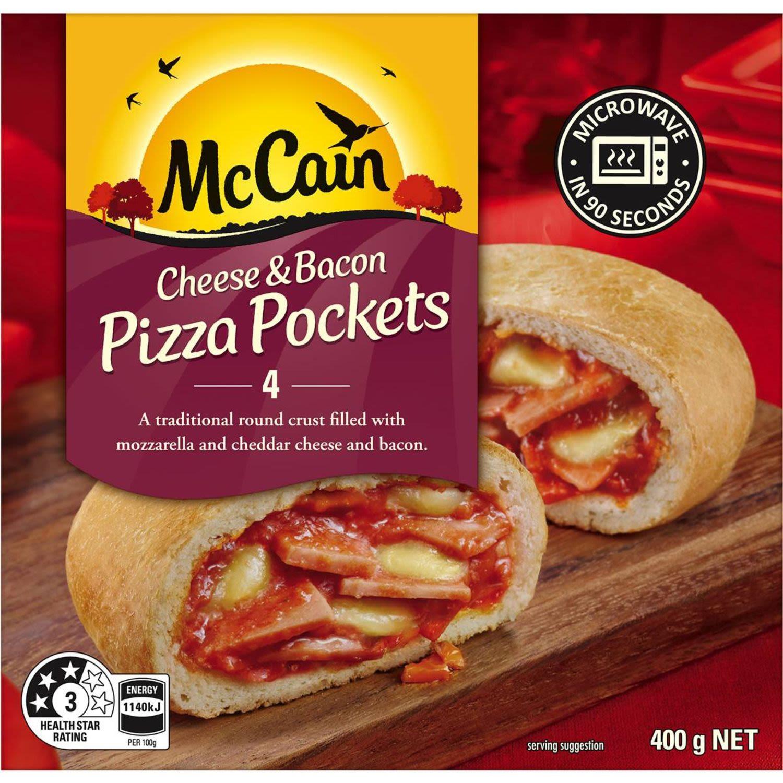 McCain Pizza Pocket Cheese & Bacon 4 pack, 4 Each