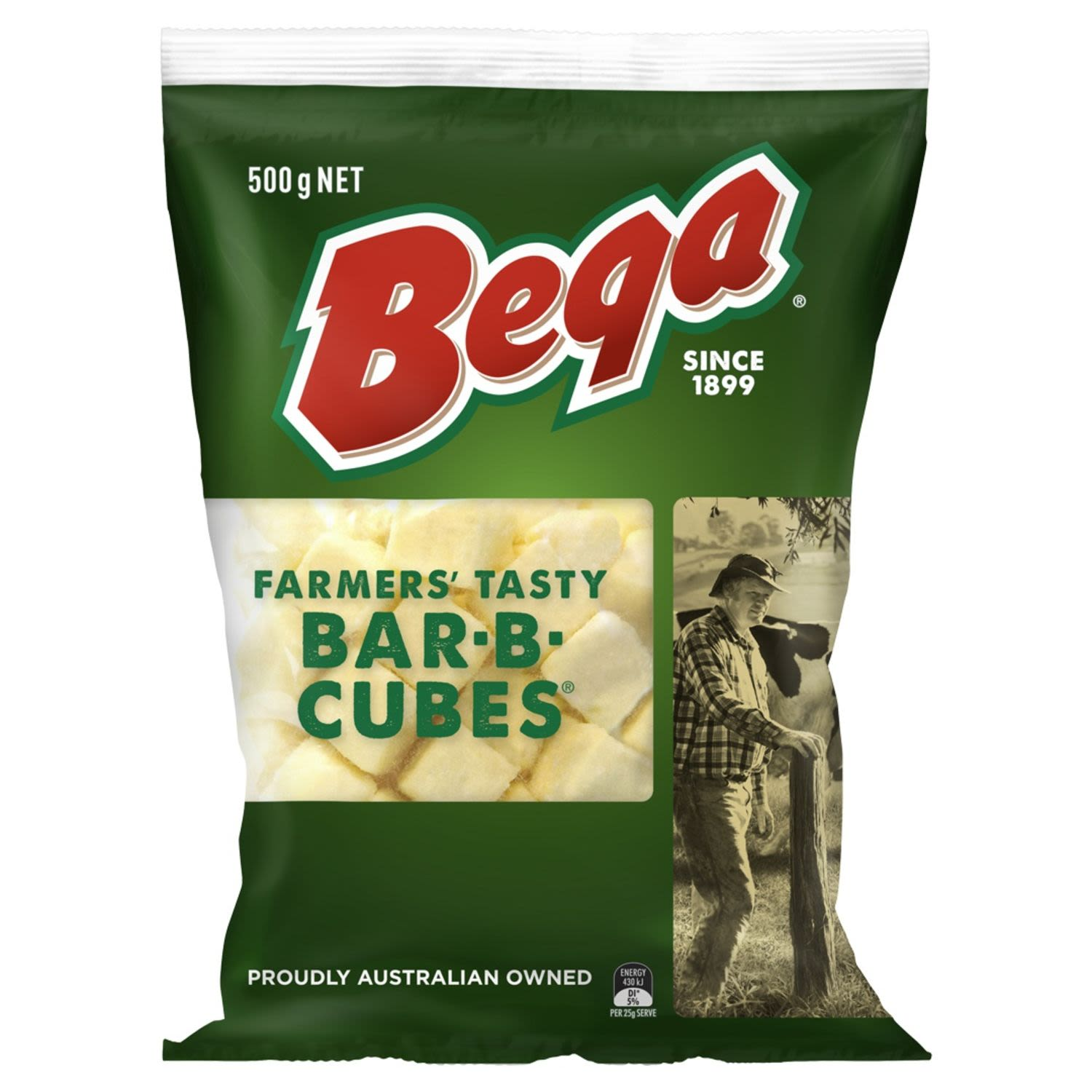 Proudly Australian owned. Contains 100% natural cheese source of calcium. What makes bega.. bega? Over 100 years of dairying heritage resulting in the unique bega taste you know and love.