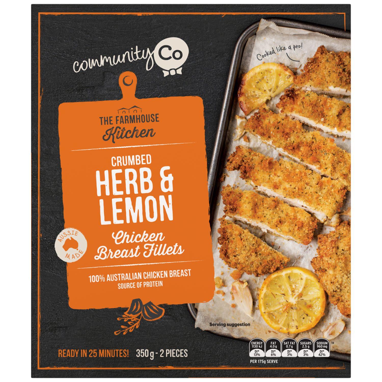 Community Co Lemon Herb Chicken Fillet, 350 Gram