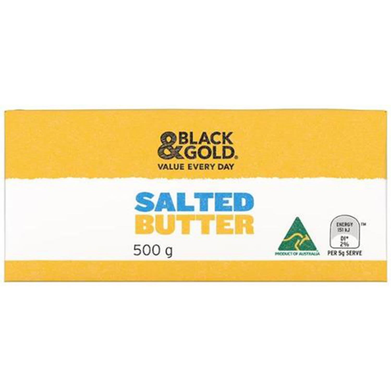 Black & Gold Salted Butter, 500 Gram
