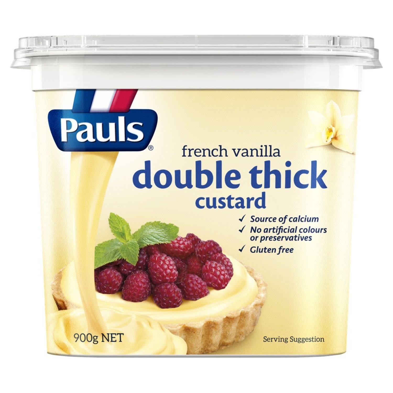 Pauls Double Thick French Vanilla Custard, 900 Gram