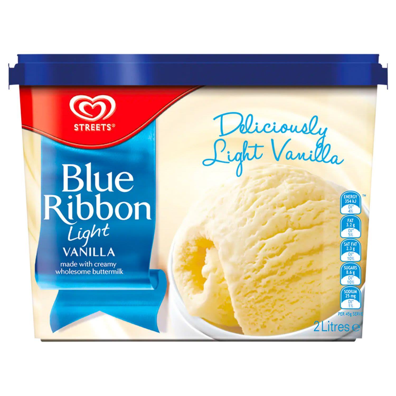 Blue Ribbon Reduced Fat Ice Cream Light Vanilla, 2 Litre