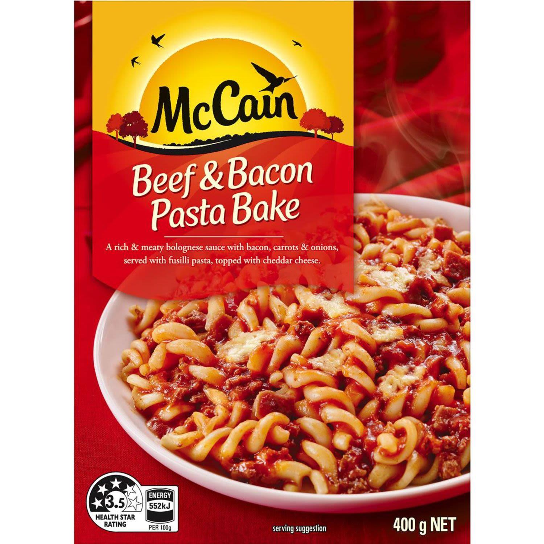McCain Beef & Bacon Pasta Bake, 400 Gram