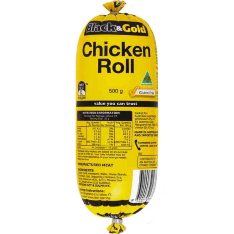 Black & Gold Chicken Roll, 500 Gram