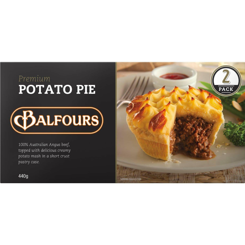 Balfours Premium Potato Pie, 2 Each