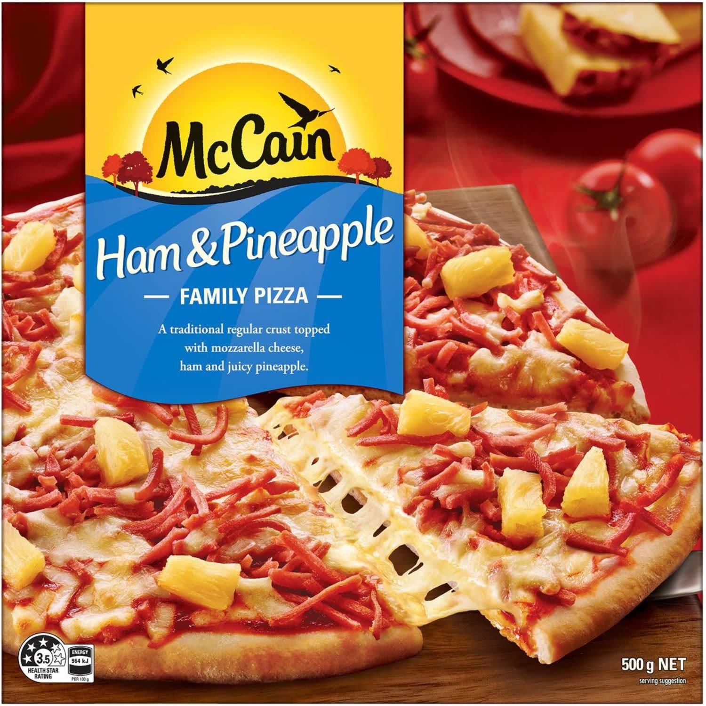 McCain Pizza Ham & Pineapple, 500 Gram