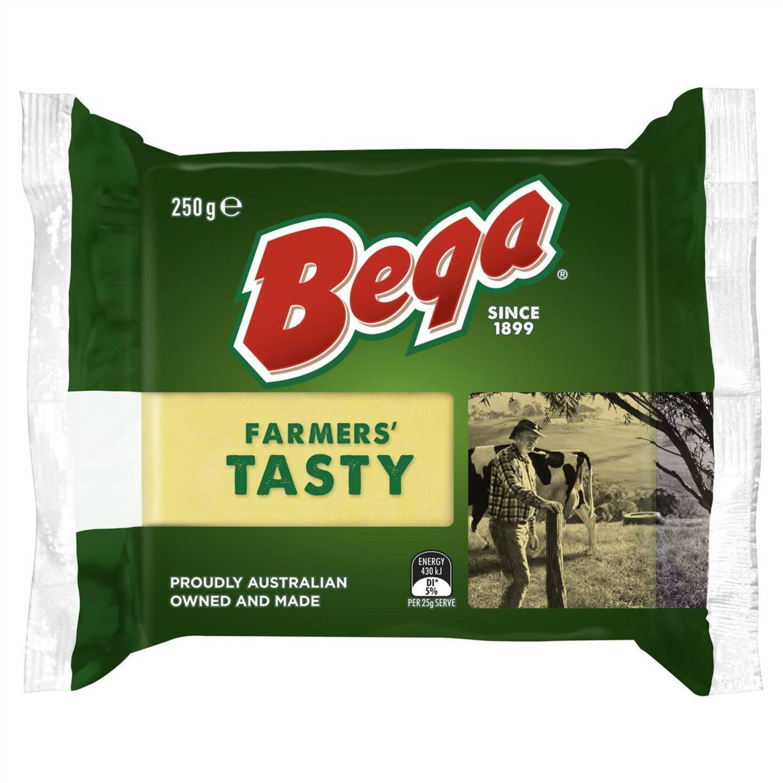 Bega Farmers' Tasty Cheese, 250 Gram