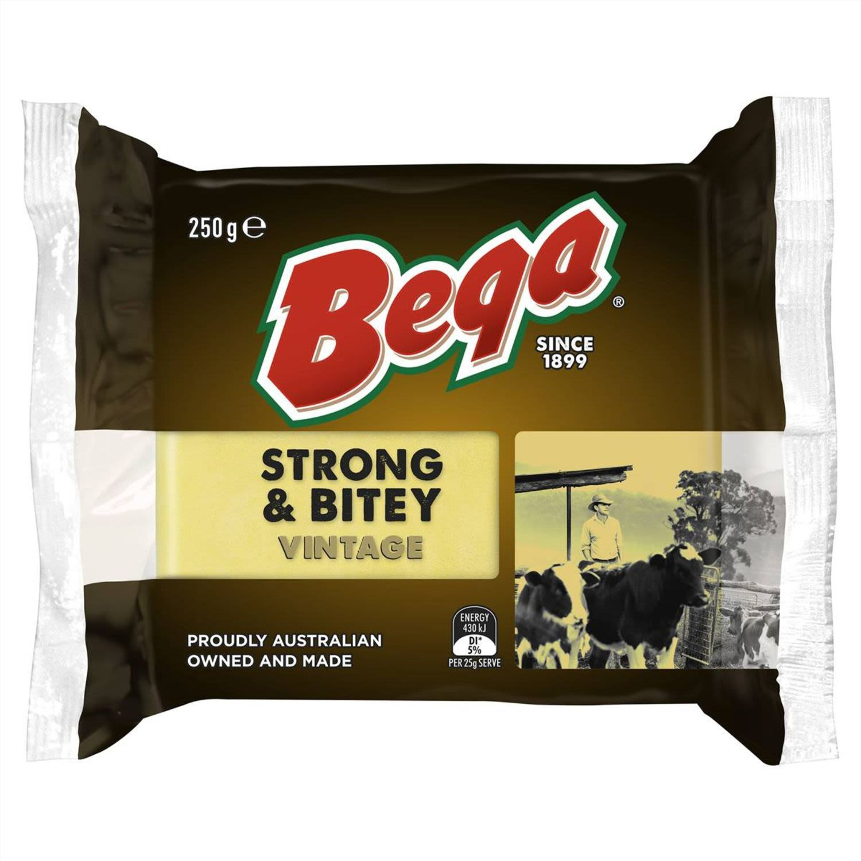 Bega Strong & Bitey Vintage Cheese, 250 Gram