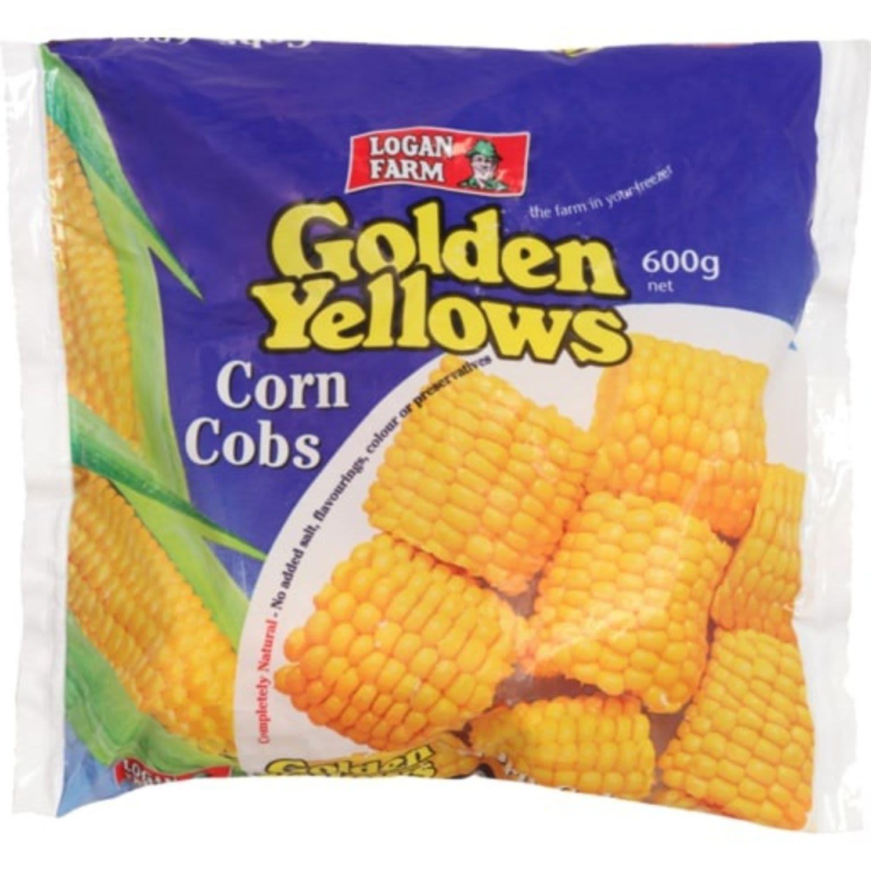 Logan Farm Corn Cobs Golden Yellow, 600 Gram