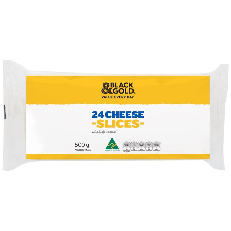 Black & Gold 24 Cheese Slices, 500 Gram