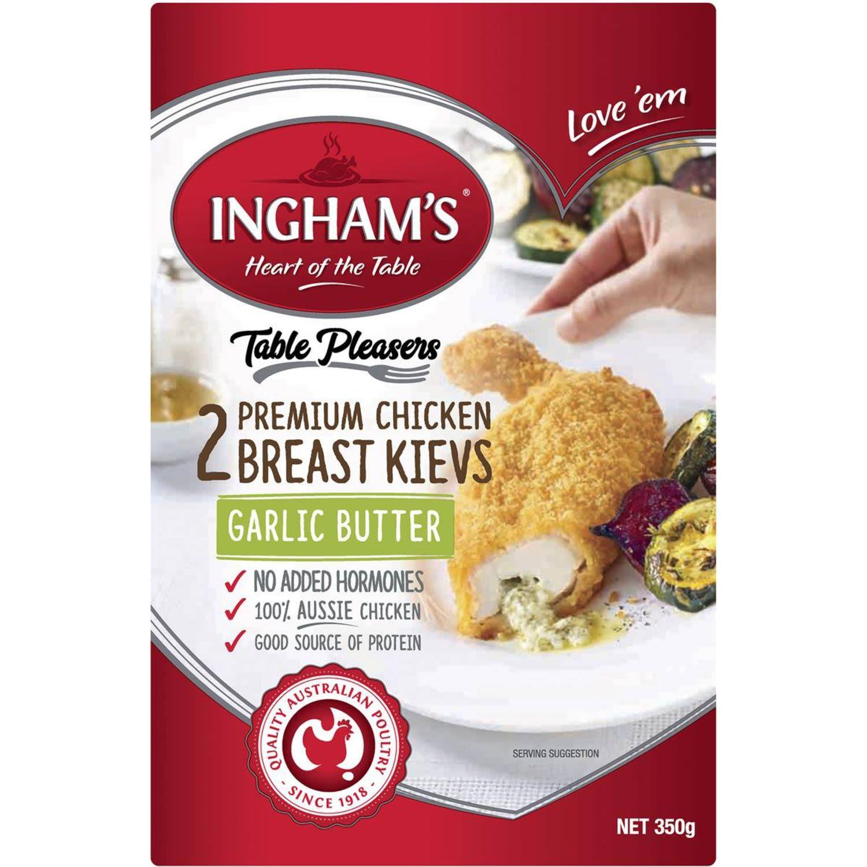 Ingham's Crumbed Chicken Kiev Garlic Butter, 350 Gram
