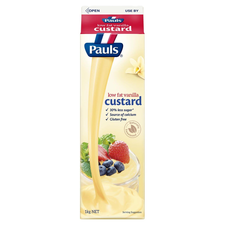 Pauls Custard Low Fat Vanilla, 1 Kilogram
