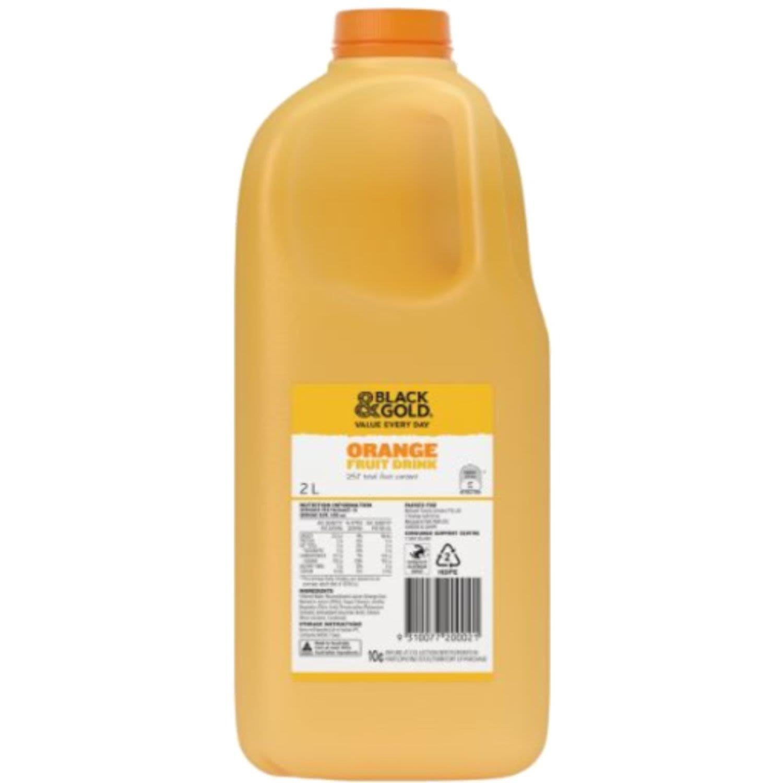 Black & Gold Concentrate Orange Drink, 2 Litre