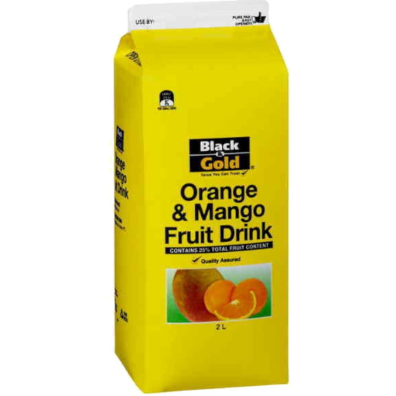 Black & Gold Concentrate Orange & Mango Drink, 2 Litre