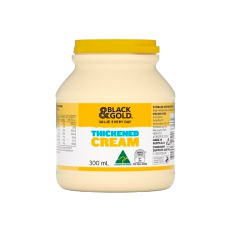Black & Gold Thickened Cream, 300 Millilitre