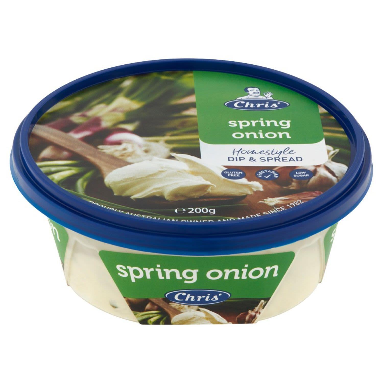 Chris' Dips Spring Onion, 200 Gram
