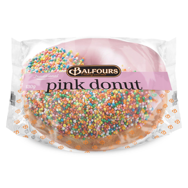 Balfours Pink Donut, 130 Gram