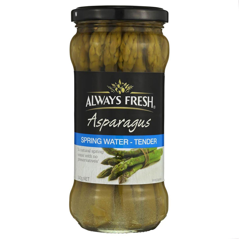 Always Fresh Asparagus In Springwater, 340 Gram