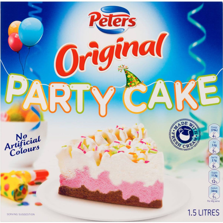 Peters Original Ice Cream Party Cake, 1.5 Litre