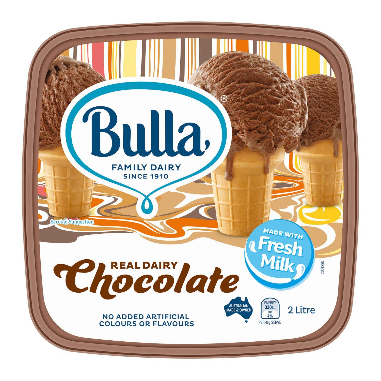 Bulla Ice Cream Chocolate, 2 Litre