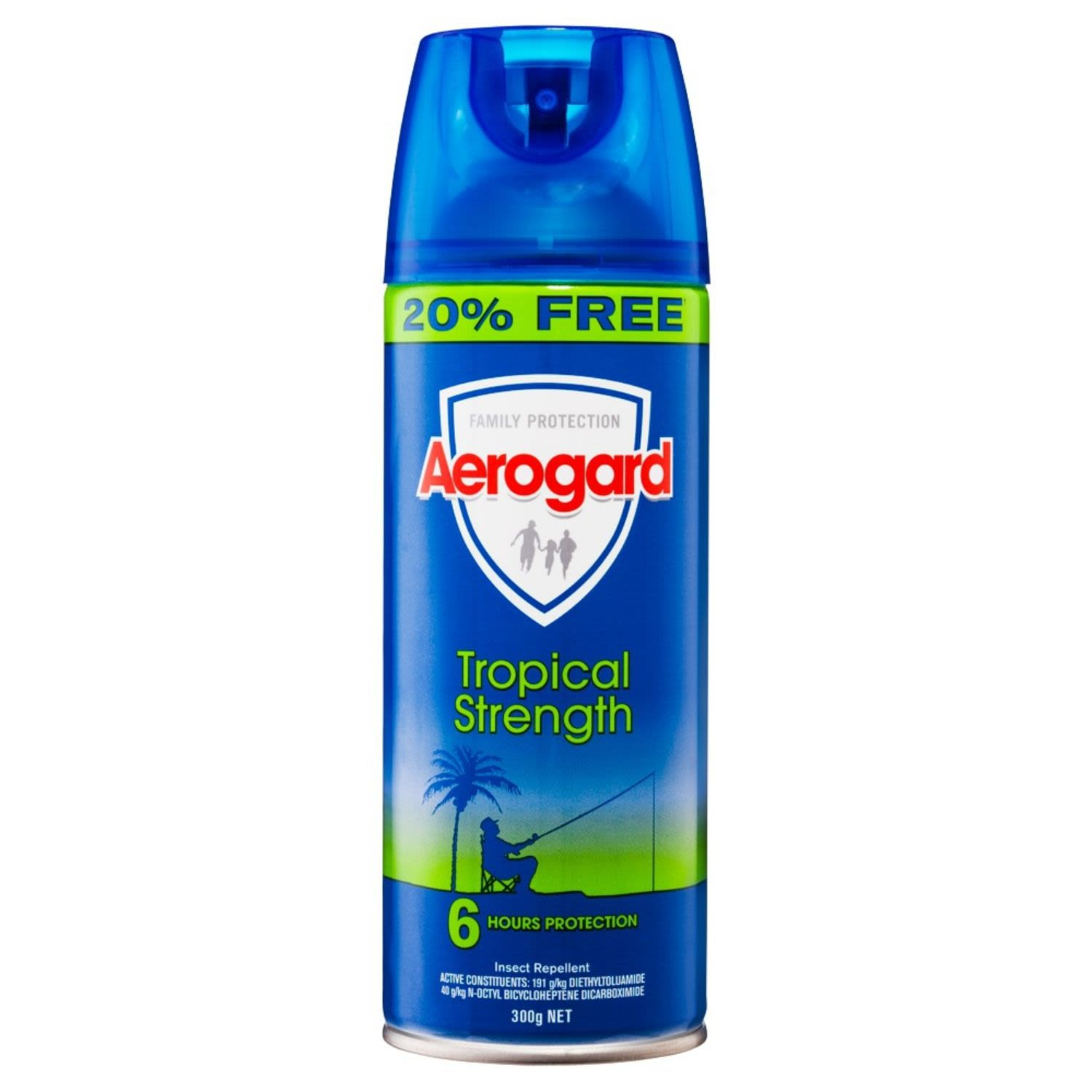 Aerogard Insect Repellent Tropical Strength 20% Free, 300 Gram