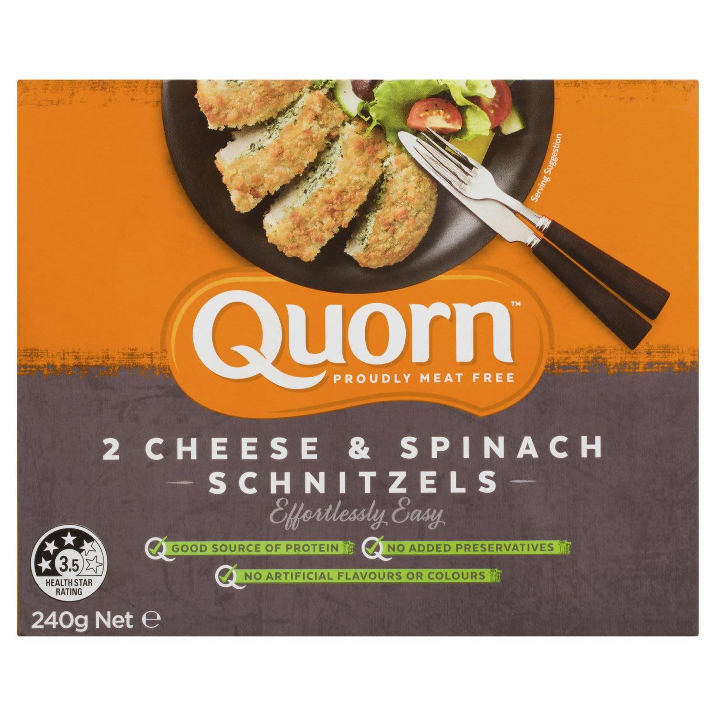 Quorn Cheese & Spinach Schnitzels, 240 Gram