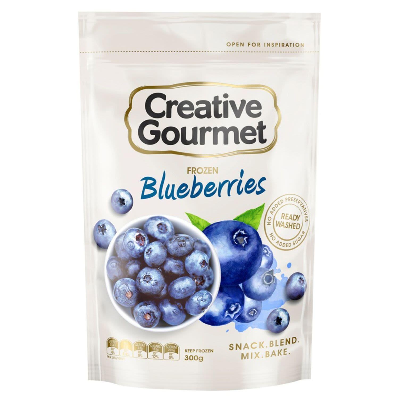 Creative Gourmet Snap Frozen Blueberries, 300 Gram