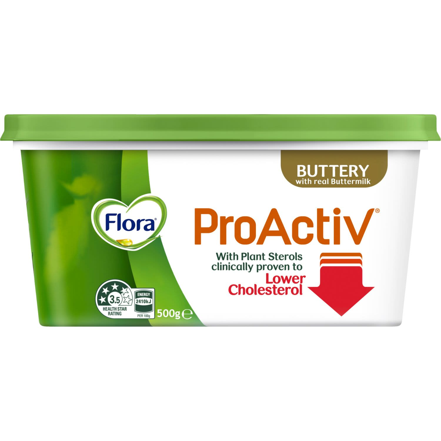 This contains 2g of plant sterols, the optimal amount per day proven to lower cholesterol. More than 3g of plant sterols per day do not provide additional benefits. If you are on cholesterol lowering medication please consult your doctor while using Flora ProActiv.
