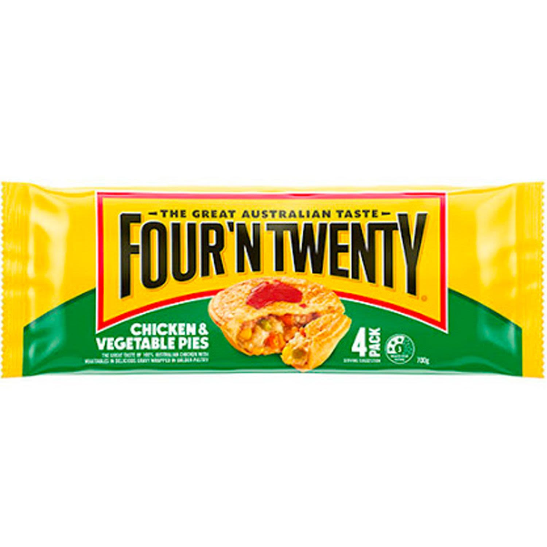 Four 'N Twenty Pies Chicken & Vegetable, 4 Each