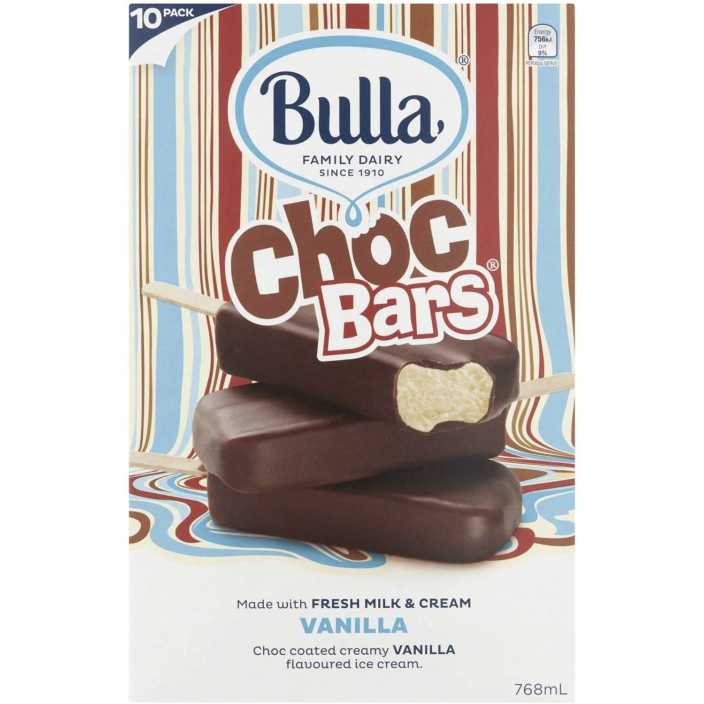 Bulla Choc Bars, 10 Each
