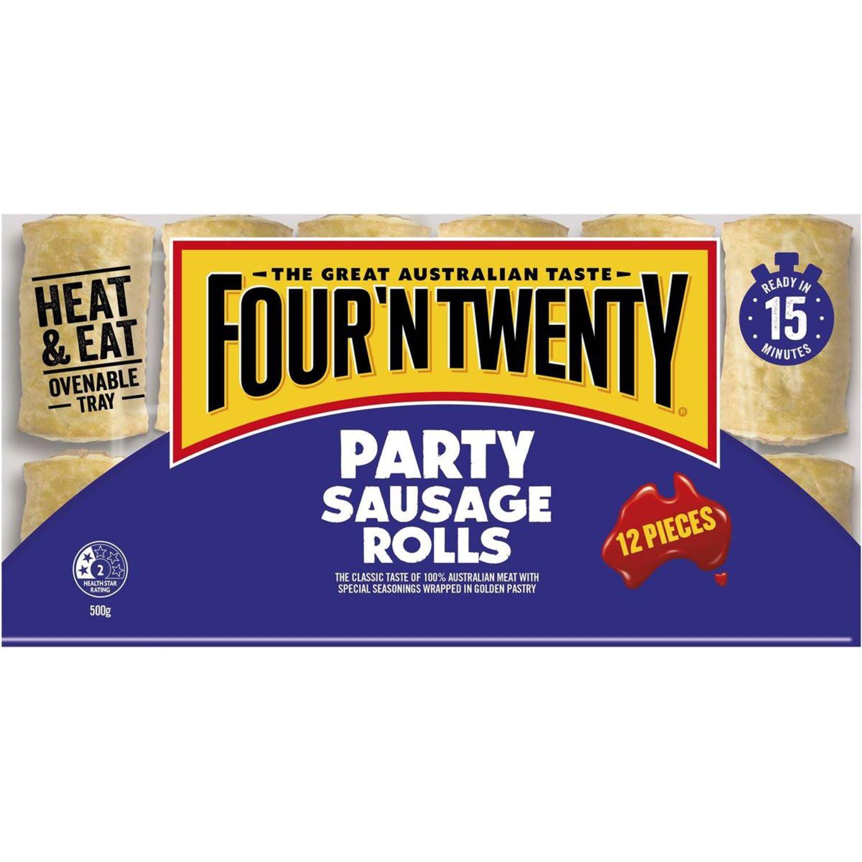 Four 'N Twenty Sausage Roll Party, 12 Each