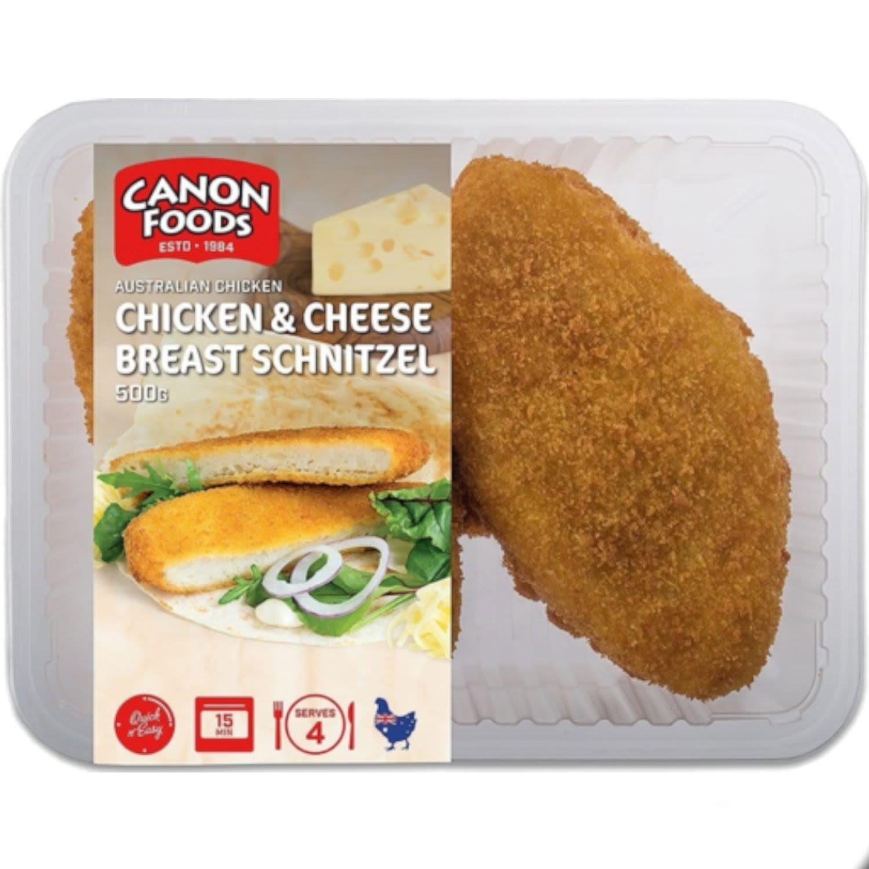 Canon Foods Chicken Cheese Breast Schnitzel, 500 Gram