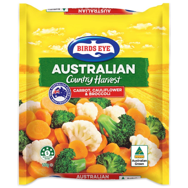 Birds Eye Country Harvest Frozen Carrot, Cauliflower & Broccoli, 500 Gram