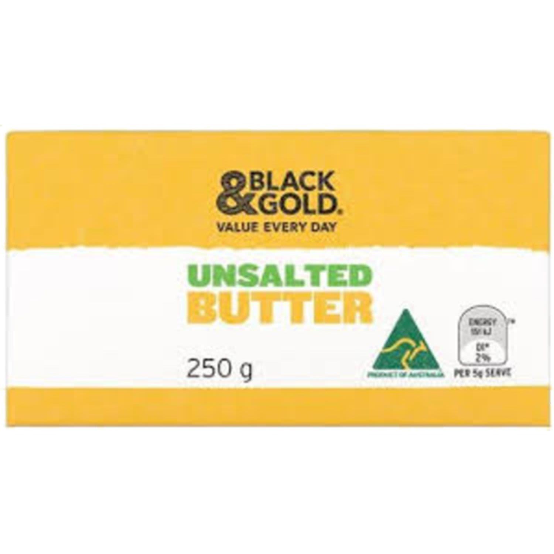 Black & Gold Butter Unsalted, 250 Gram