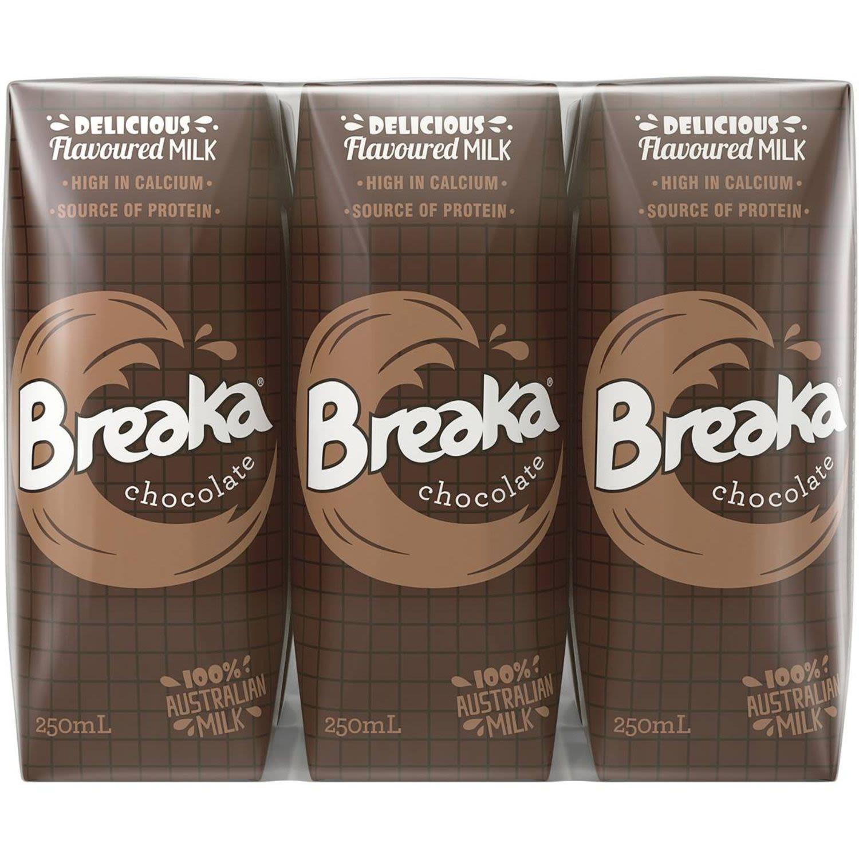 Breaka Chocolate Milk, 6 Each