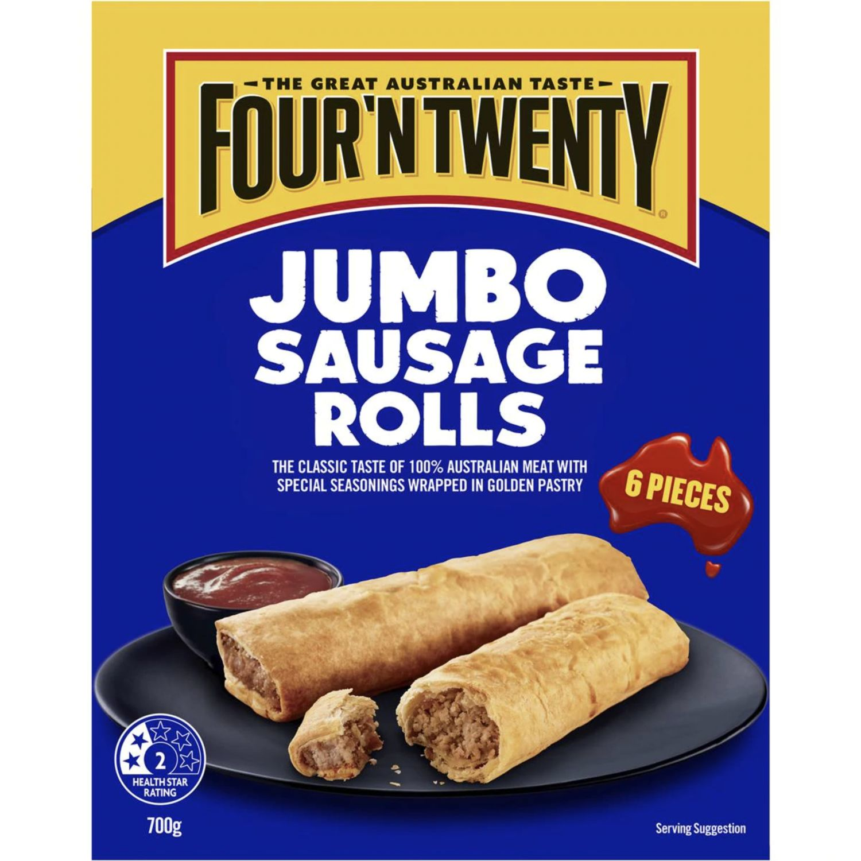 Four 'N Twenty Sausage Roll Jumbo, 6 Each