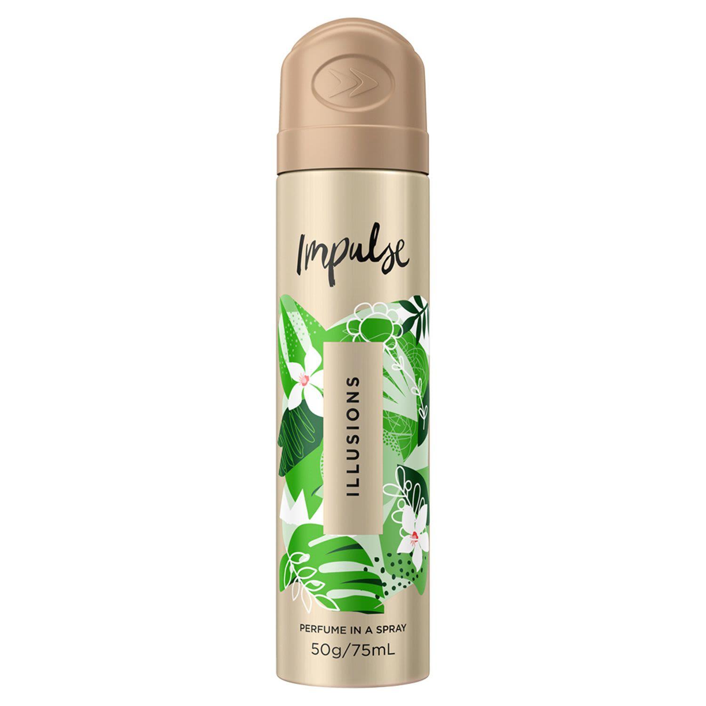 Impulse Body Spray Aerosol Deodorant Illusions, 75 Millilitre