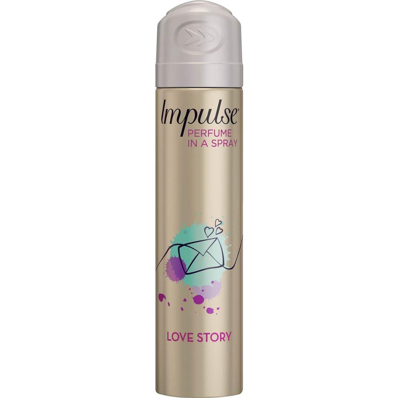 Impulse Body Spray Love Story, 75 Millilitre