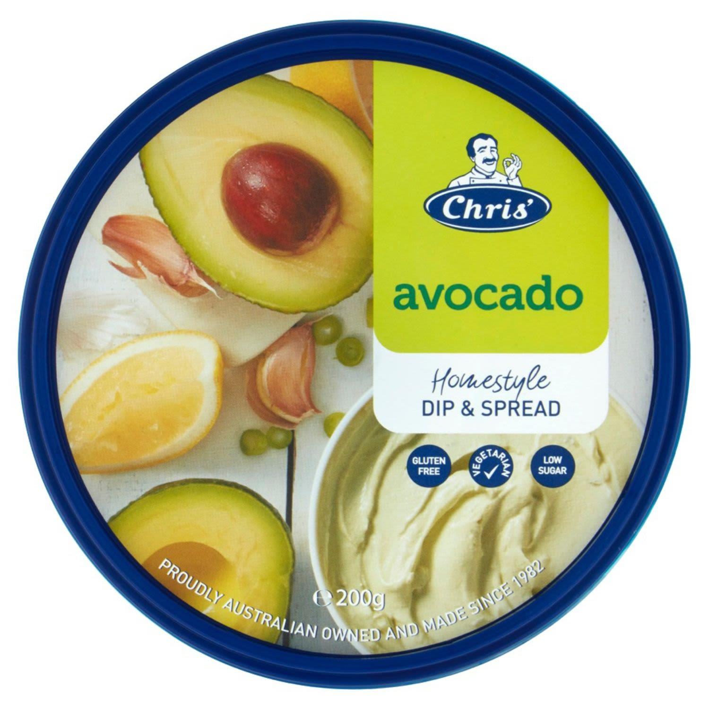 Chris' Traditional Avocado Dip, 200 Gram