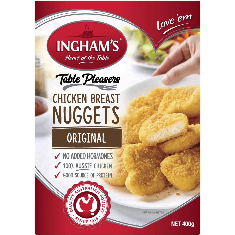 Ingham's Crumbed Chicken Breast Nuggets, 400 Gram