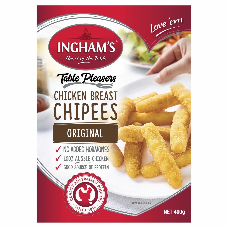 Ingham's Chicken Breast Chipees Original, 400 Gram