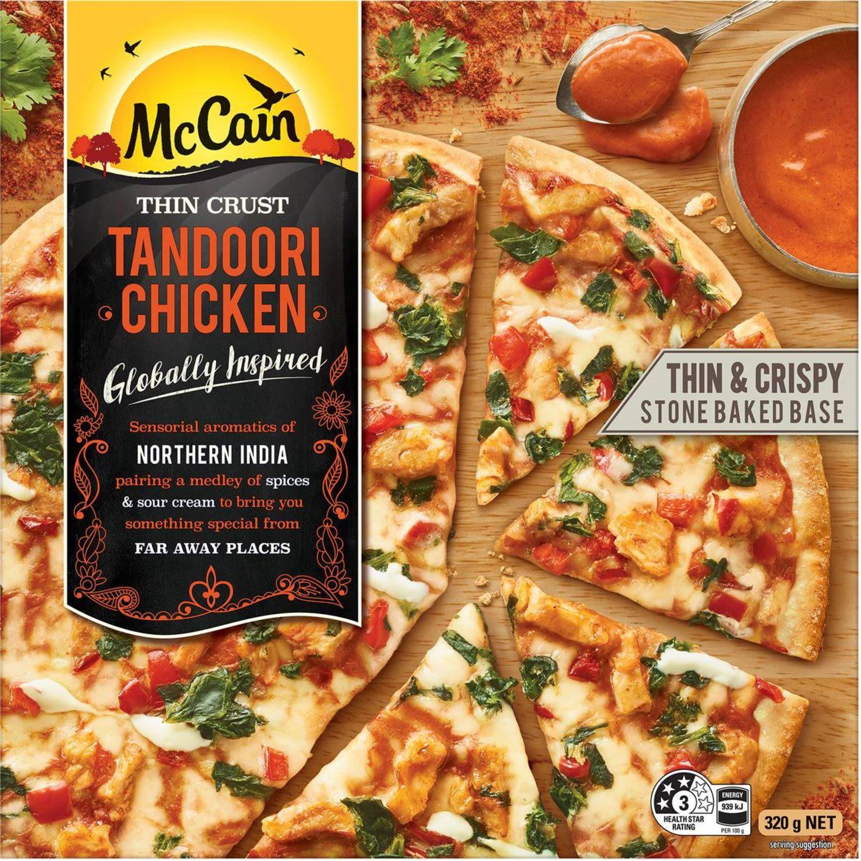 McCain Ultra Thin Crust Pizza Tandoori, 320 Gram