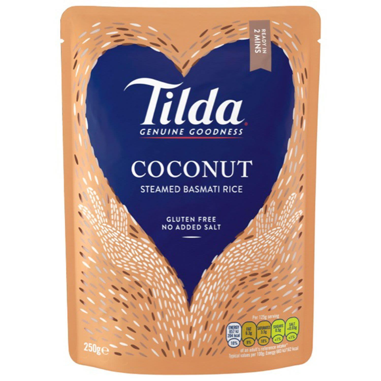 Tilda Microwave Coconut Basmati Rice, 250 Gram