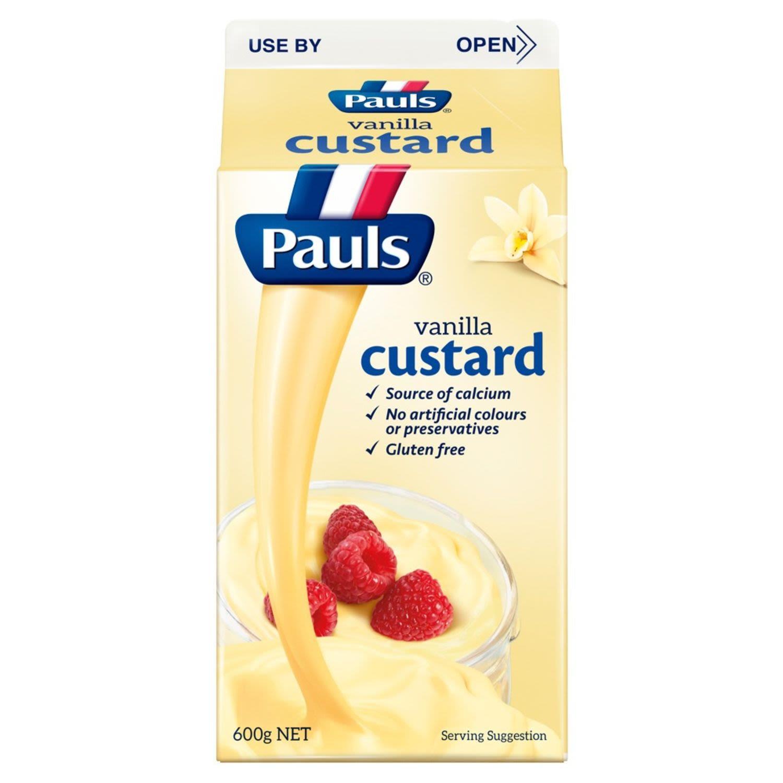 Pauls Vanilla Custard, 600 Gram