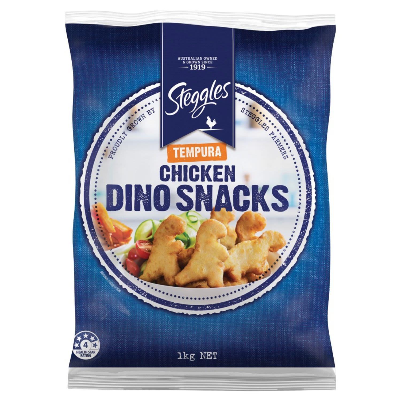 Steggles Crumbed Chicken Dino Snacks Tempura, 1 Kilogram